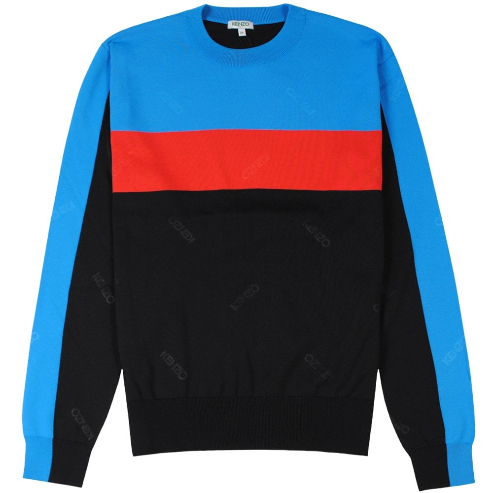 Kenzo Colourblock Jumper Black Colour: BLACK, Size: MEDIUM