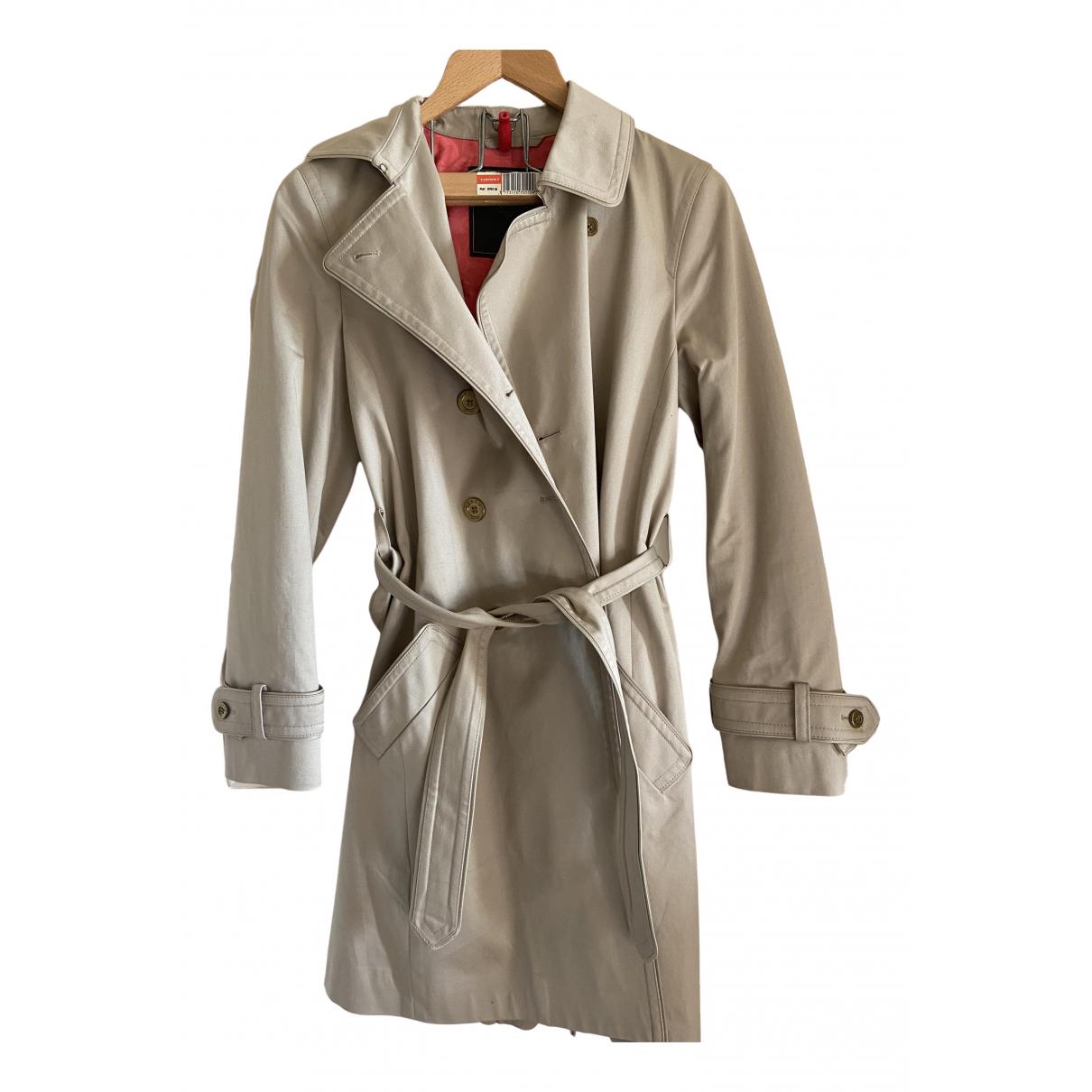 Coach - Manteau   pour femme en coton - beige