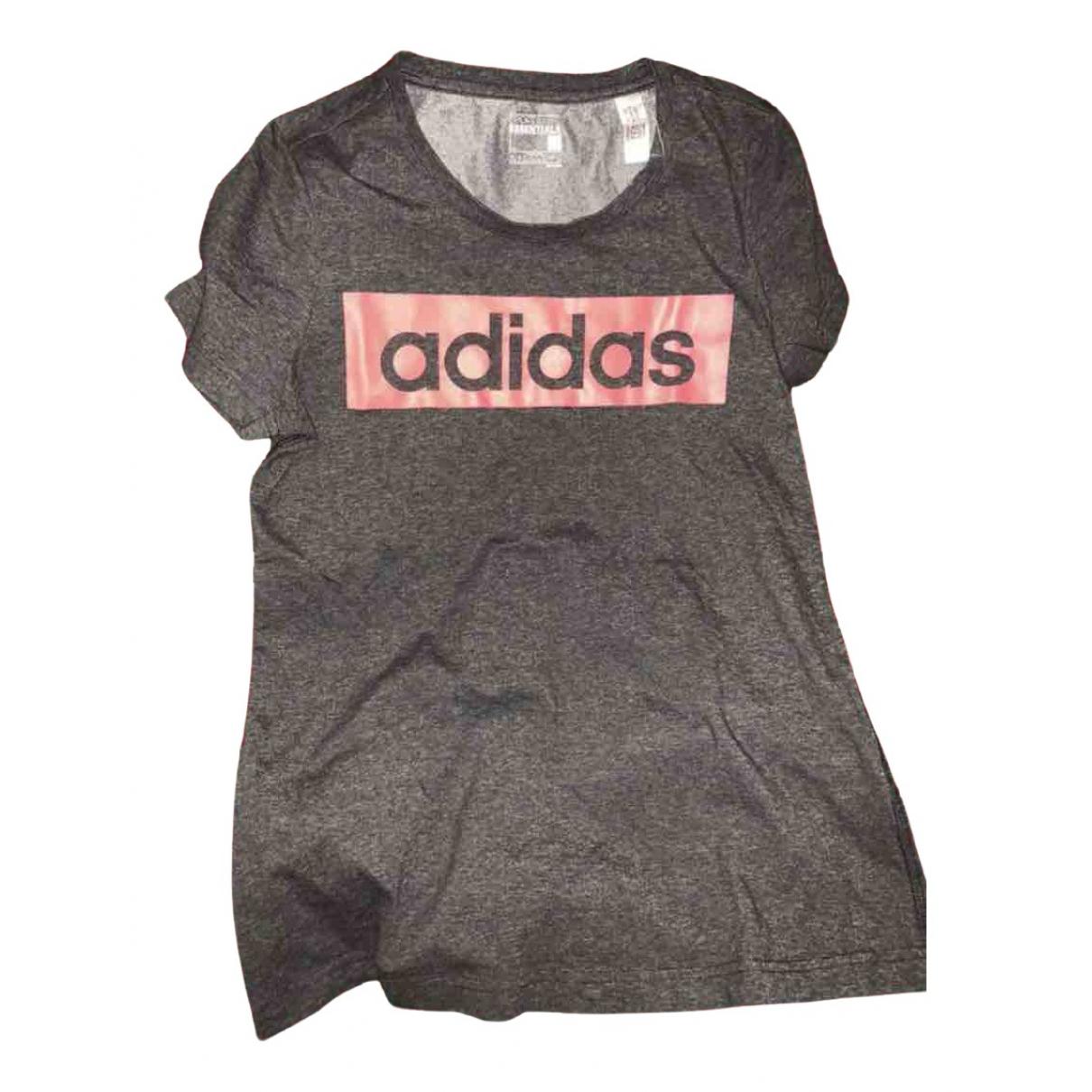 Adidas - Top   pour femme en coton - gris