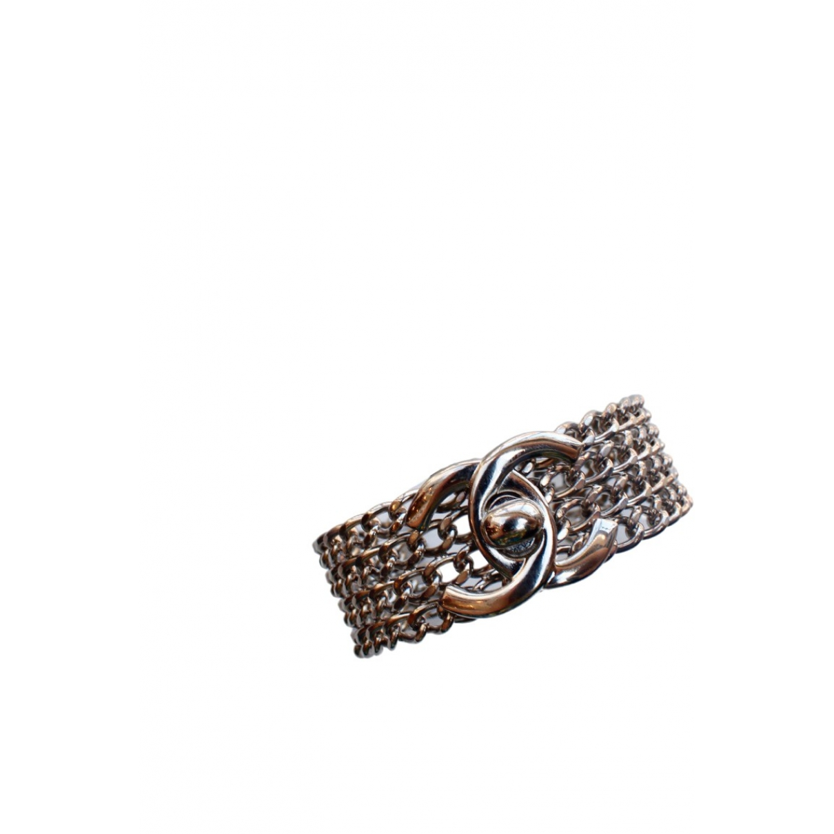 Chanel CC Armband in  Silber Metall