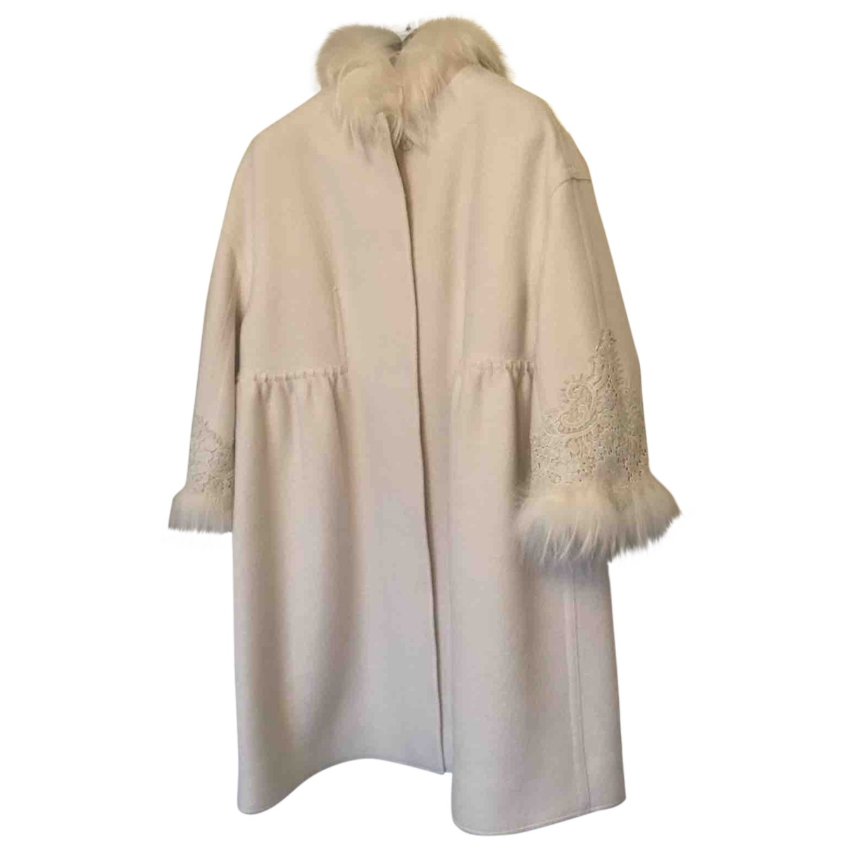 Ermanno Scervino \N White Wool coat for Women 40 IT