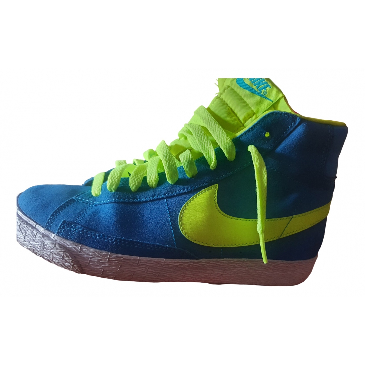 Nike Blazer Blue Suede Trainers for Women 37.5 EU