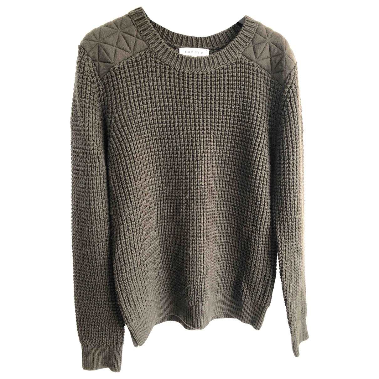 Sandro \N Pullover in  Khaki Wolle