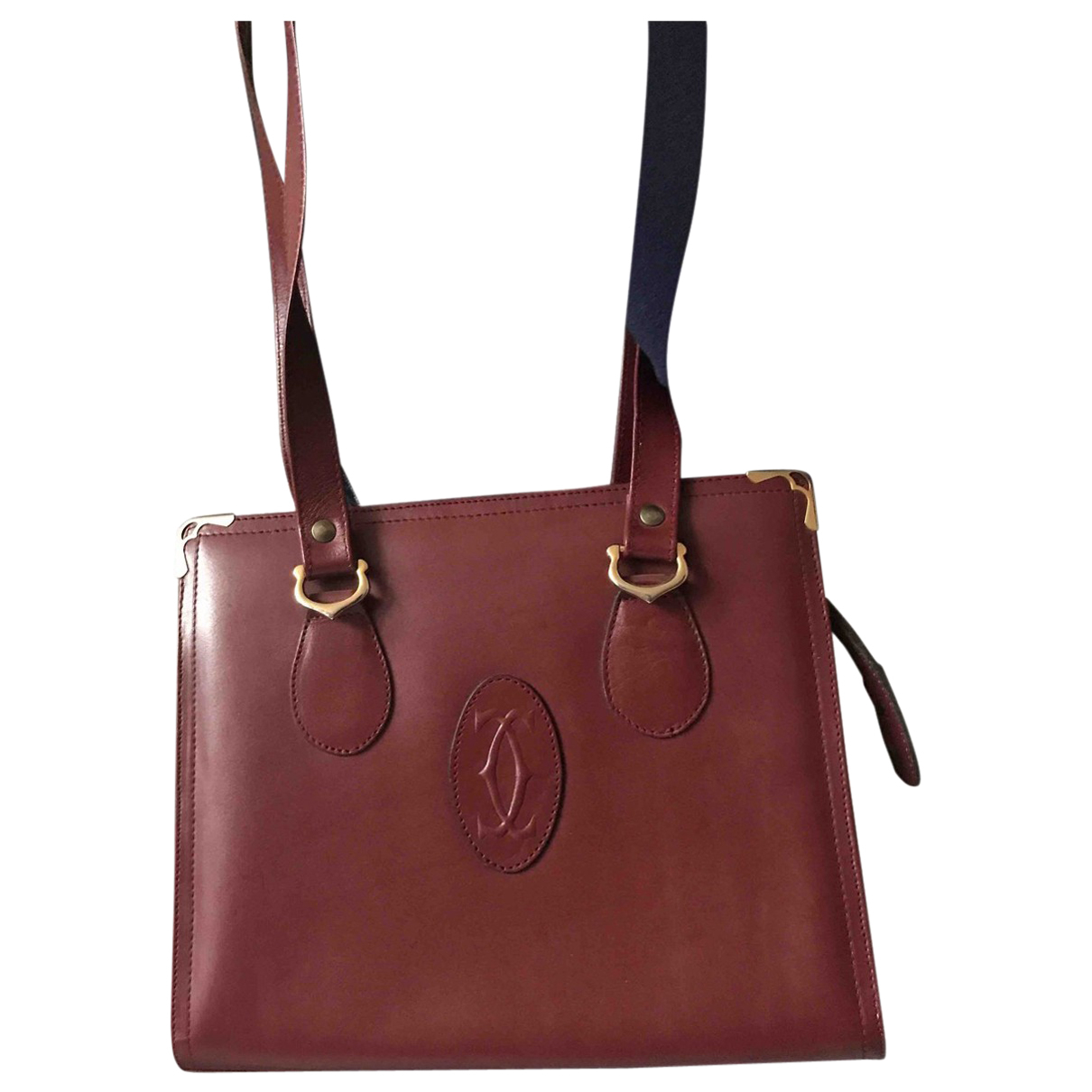 Cartier N Burgundy Leather handbag for Women N