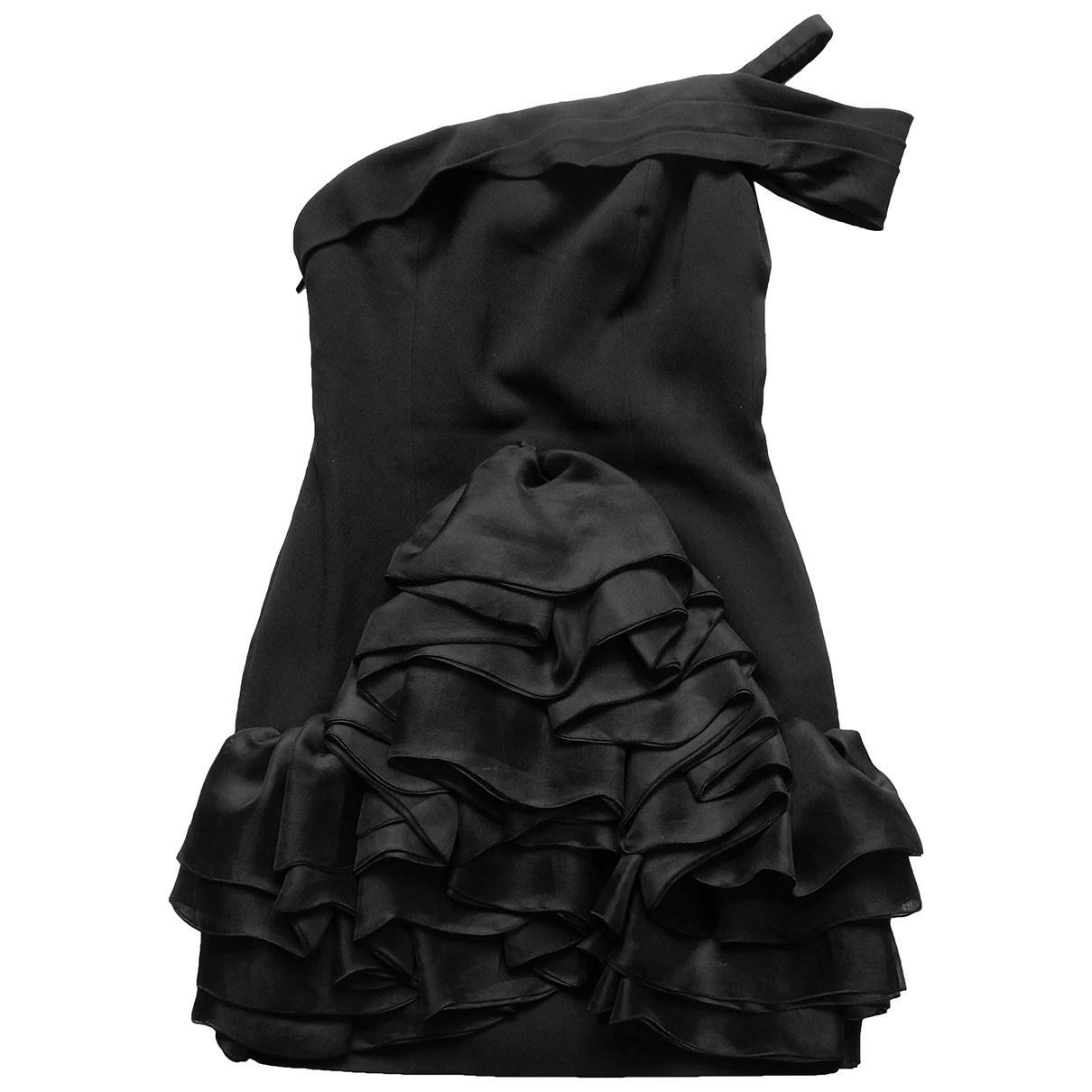 Saint Laurent \N Kleid in  Schwarz Synthetik
