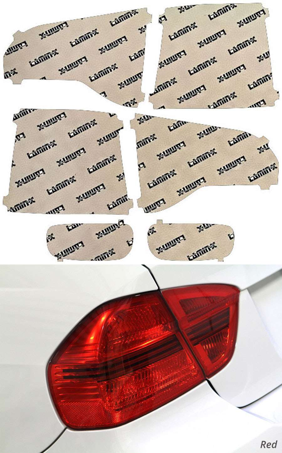 Kia Sorento 14-15 Red Tail Light Covers Lamin-X K226R
