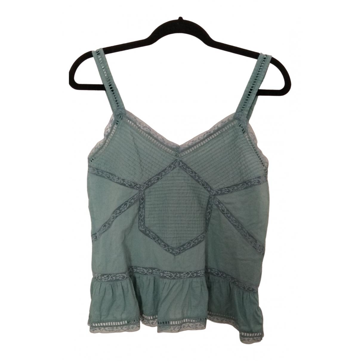 Zadig & Voltaire - Top   pour femme en coton - turquoise