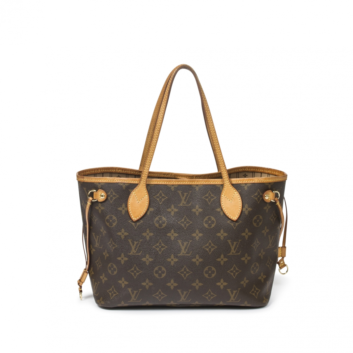 Louis Vuitton Neverfull Handtasche in  Braun Baumwolle