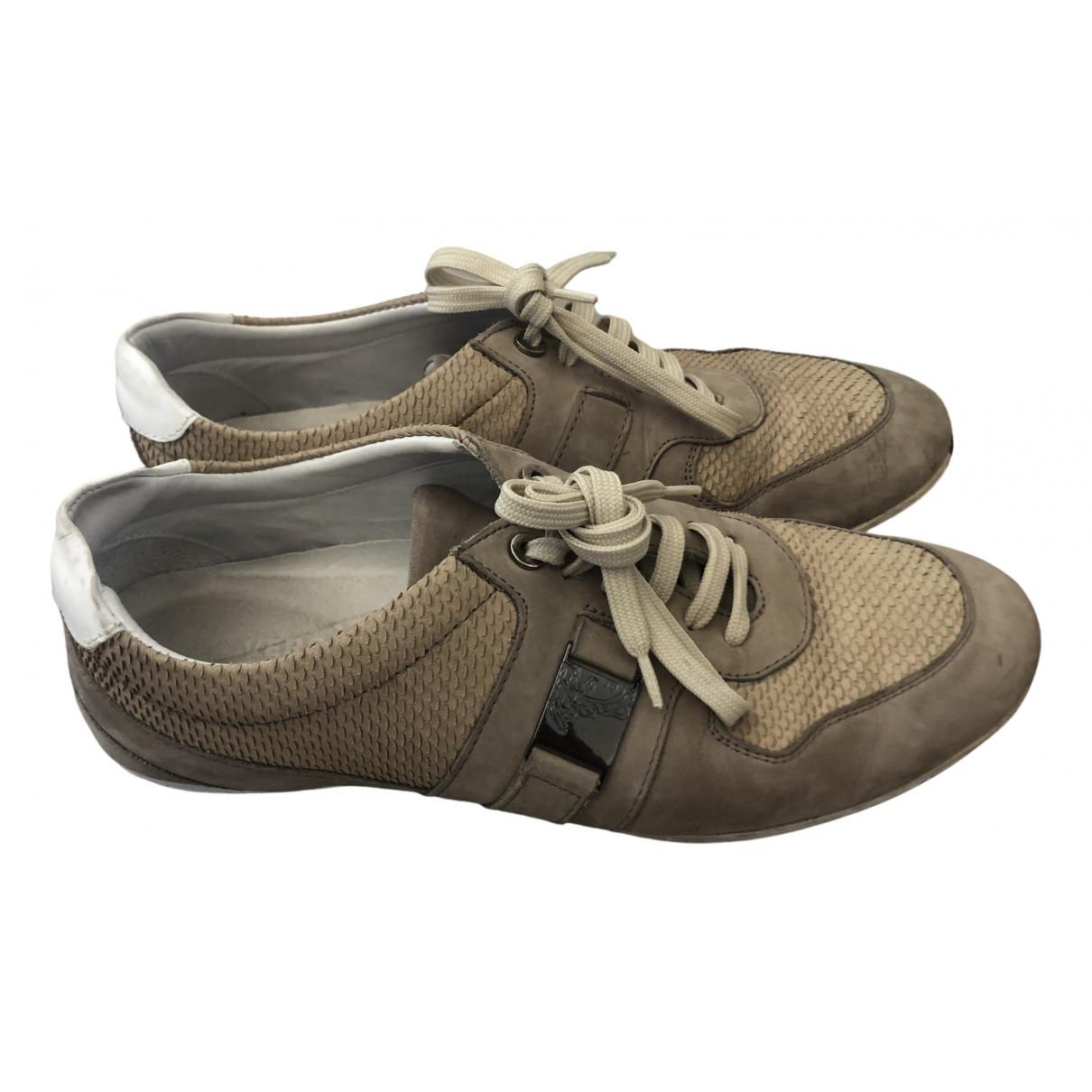 Versace \N Sneakers in  Beige Veloursleder