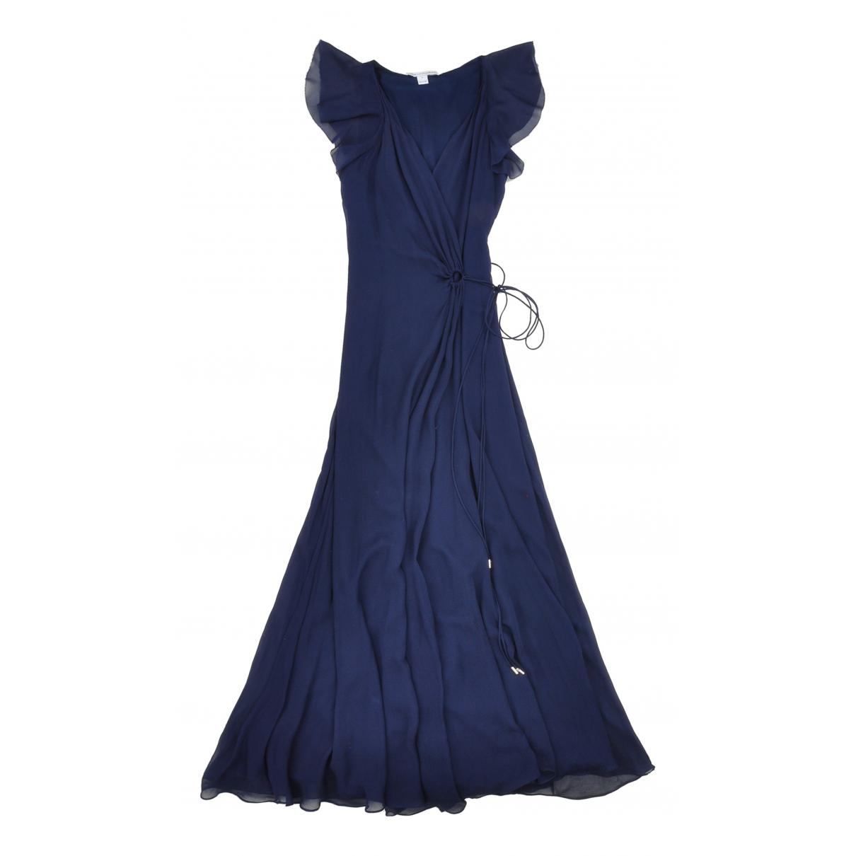 Diane Von Furstenberg \N Kleid in  Marine Seide