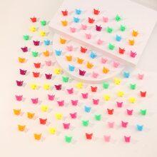 100 Stuecke Kleinkind Maedchen Haarklaue mit Schmetterling Design