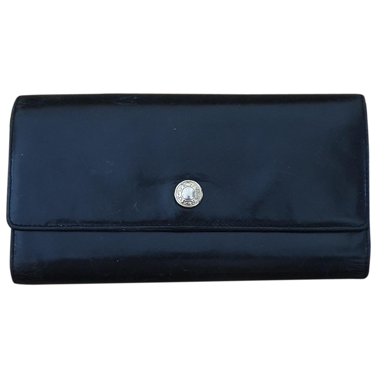 Dkny - Portefeuille   pour femme en cuir - noir
