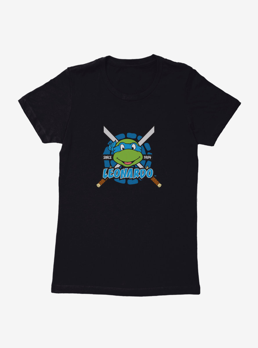 Teenage Mutant Ninja Turtles Leonardo Smie Womens T-Shirt