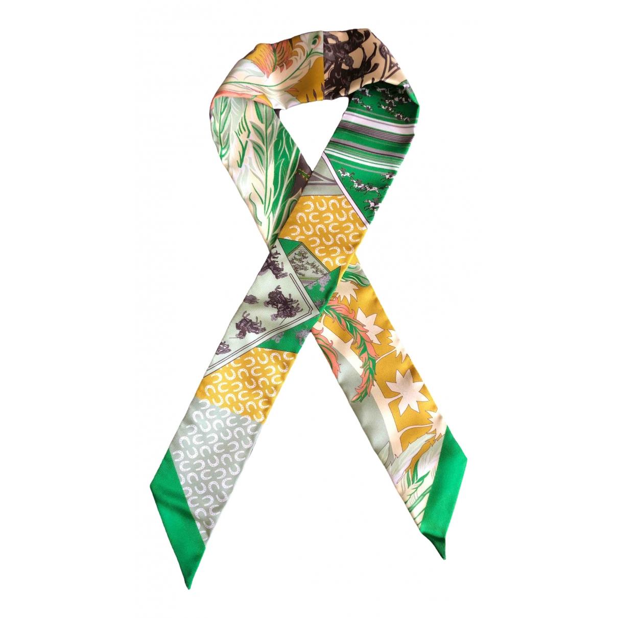 Hermes - Foulard Twilly 86 pour femme en soie - vert