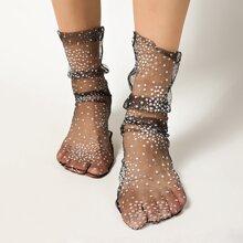 Flower Pattern Lace Socks