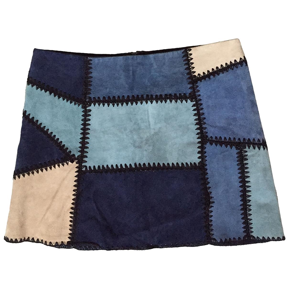 Zara \N Multicolour Suede skirt for Women M International