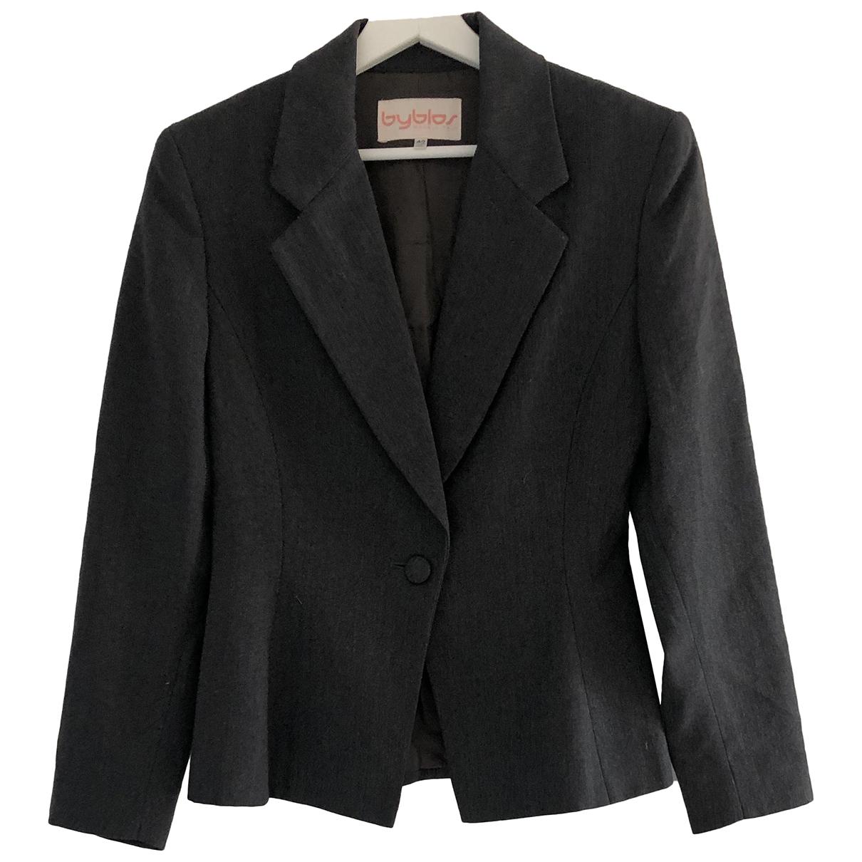 Byblos - Veste   pour femme en laine - anthracite