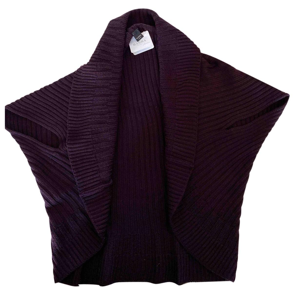 Barba - Pull   pour femme en laine - violet
