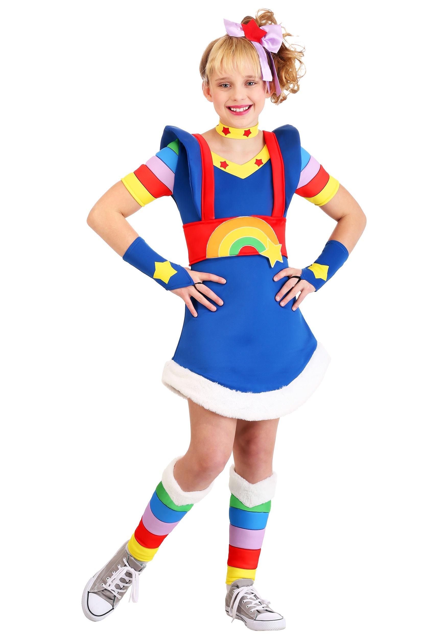 Girl's Rainbow Brite Costume