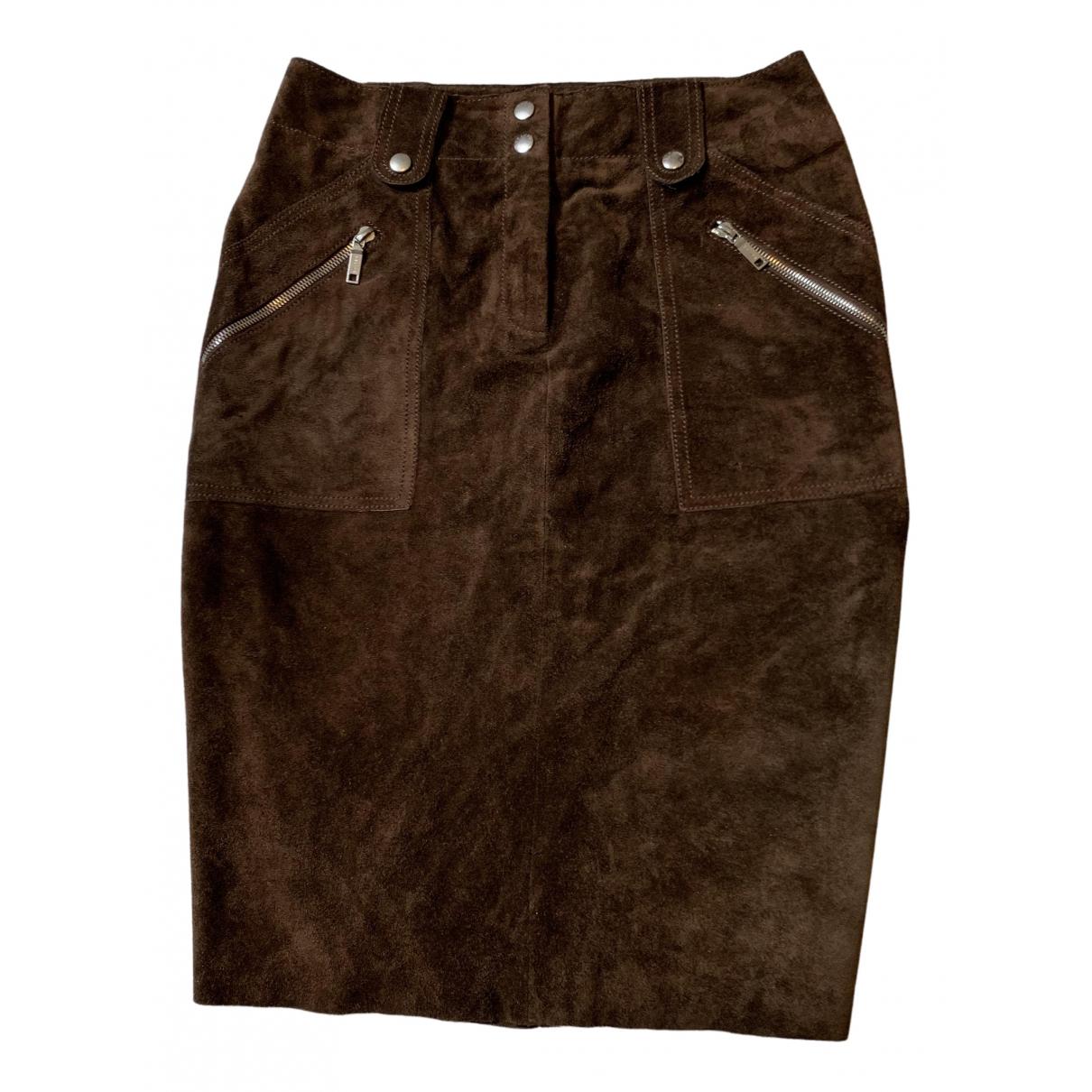 Celine N Brown Pony-style calfskin skirt for Women 38 FR