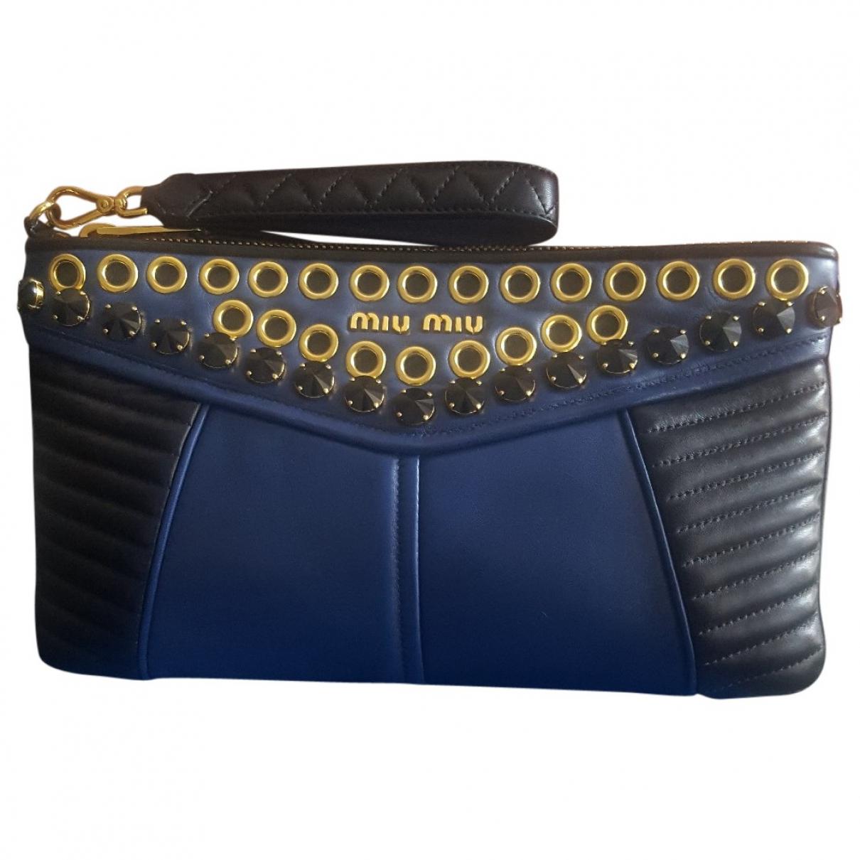 Miu Miu \N Blue Leather Clutch bag for Women \N