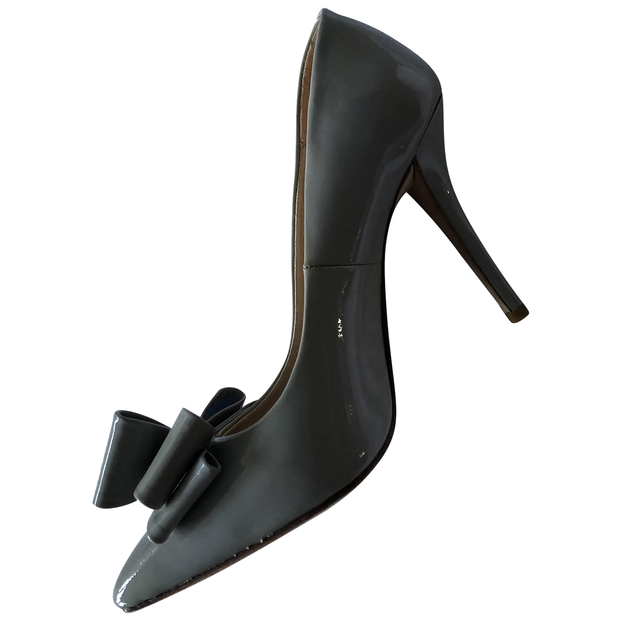 Non Signé / Unsigned \N Grey Patent leather Heels for Women 37 EU