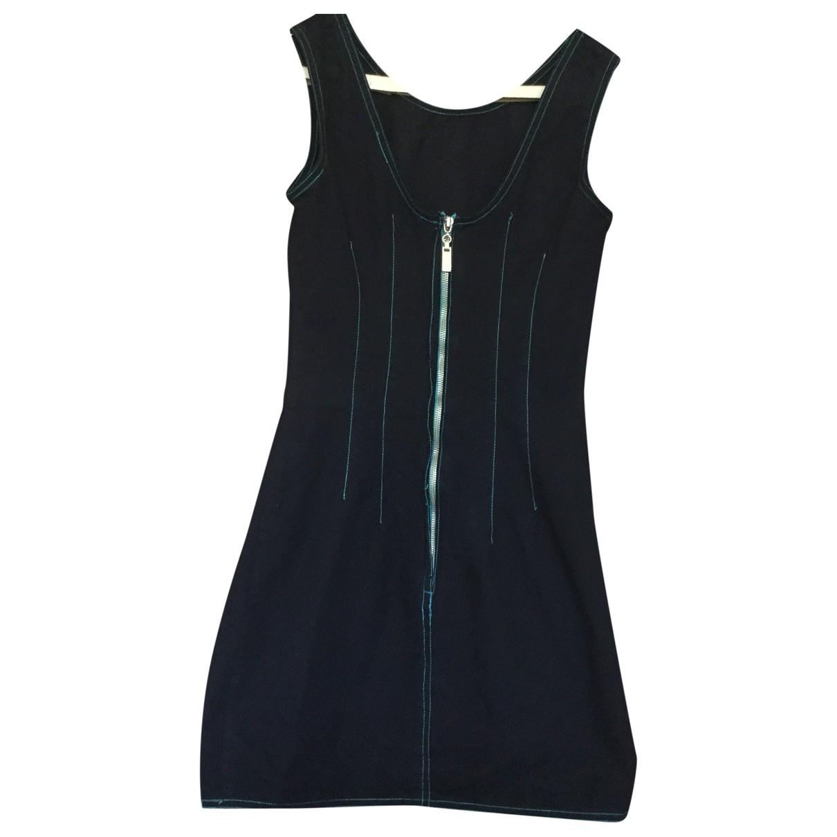 Fendissime - Robe   pour femme en coton - bleu