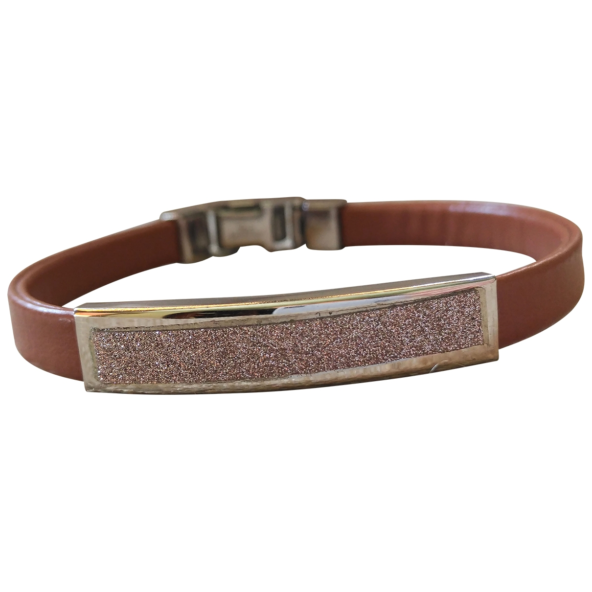 Non Signé / Unsigned \N Pink Metal bracelet for Women \N