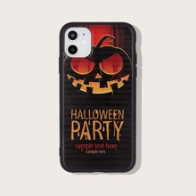 iPhone Schutzhuelle mit Halloween Kuerbis Muster