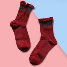 Socken mit Rueschen