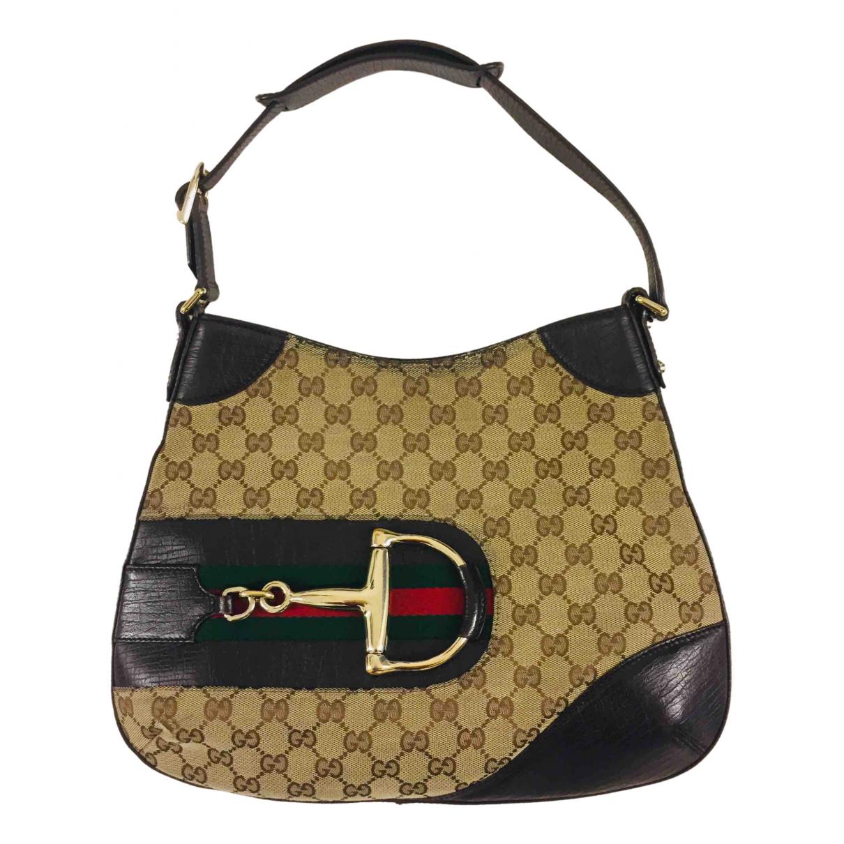 Gucci - Sac a main Hobo pour femme en toile - marron