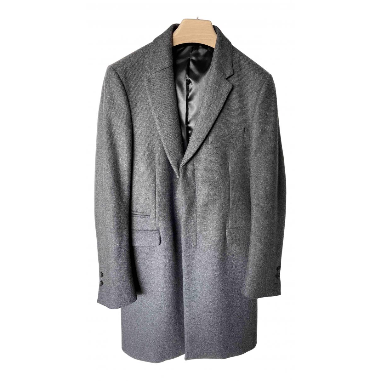 Costume National - Manteau   pour homme en laine - gris