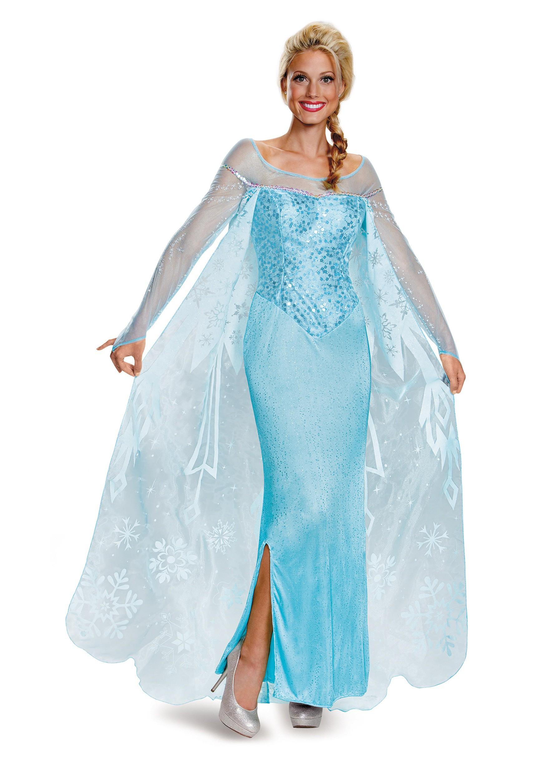 Frozen Adult Elsa Prestige Costume   Elsa Cosplay Costume