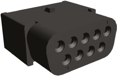 TE Connectivity , HDJ-20 Female Connector Housing, 2.74mm Pitch, 9 Way, 2 Row (5)