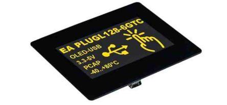 Electronic Assembly 128x64 OLED HMI USB,I2C,SPI Graphic,PCAP