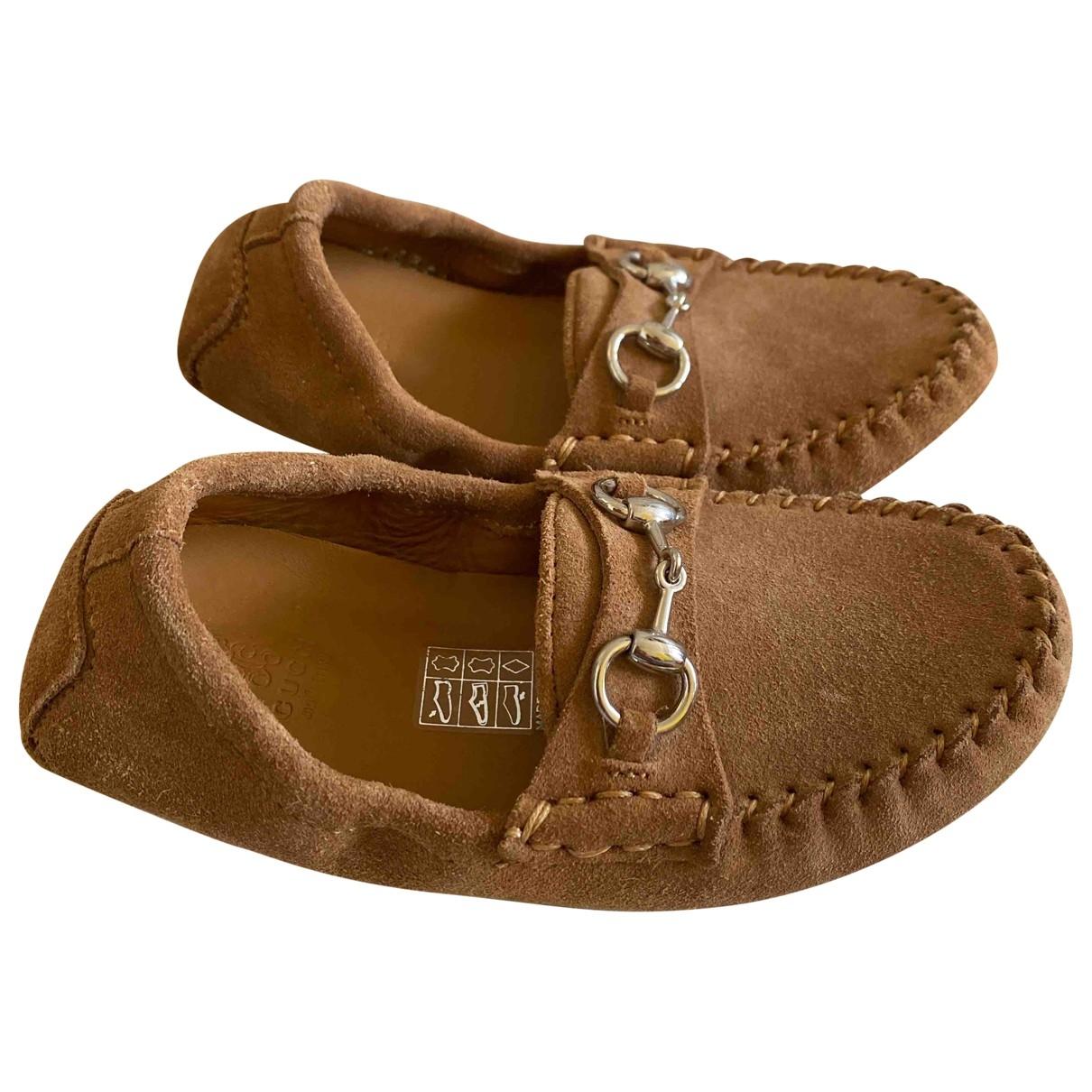 Gucci - Mocassins   pour enfant en suede - marron