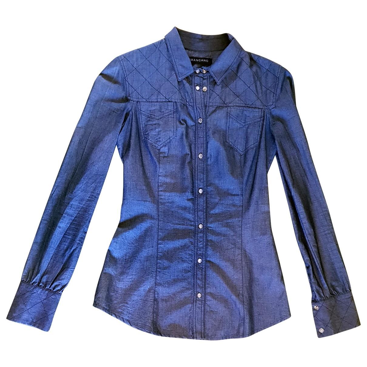 Mangano \N Top in  Blau Denim - Jeans