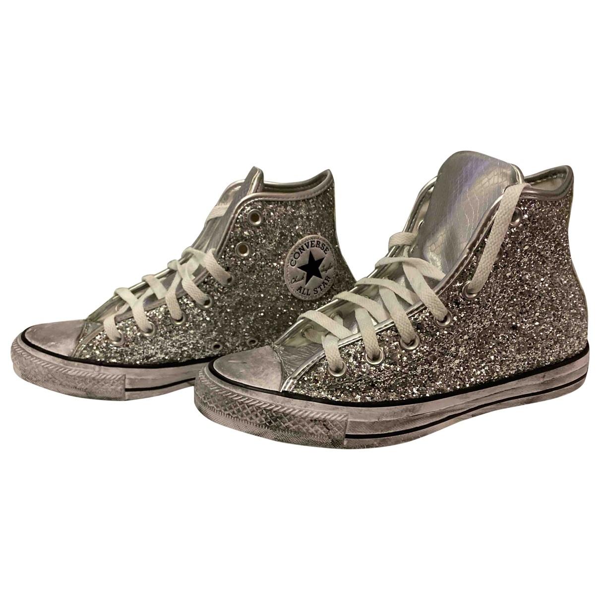 Converse \N Sneakers in  Silber Mit Pailletten
