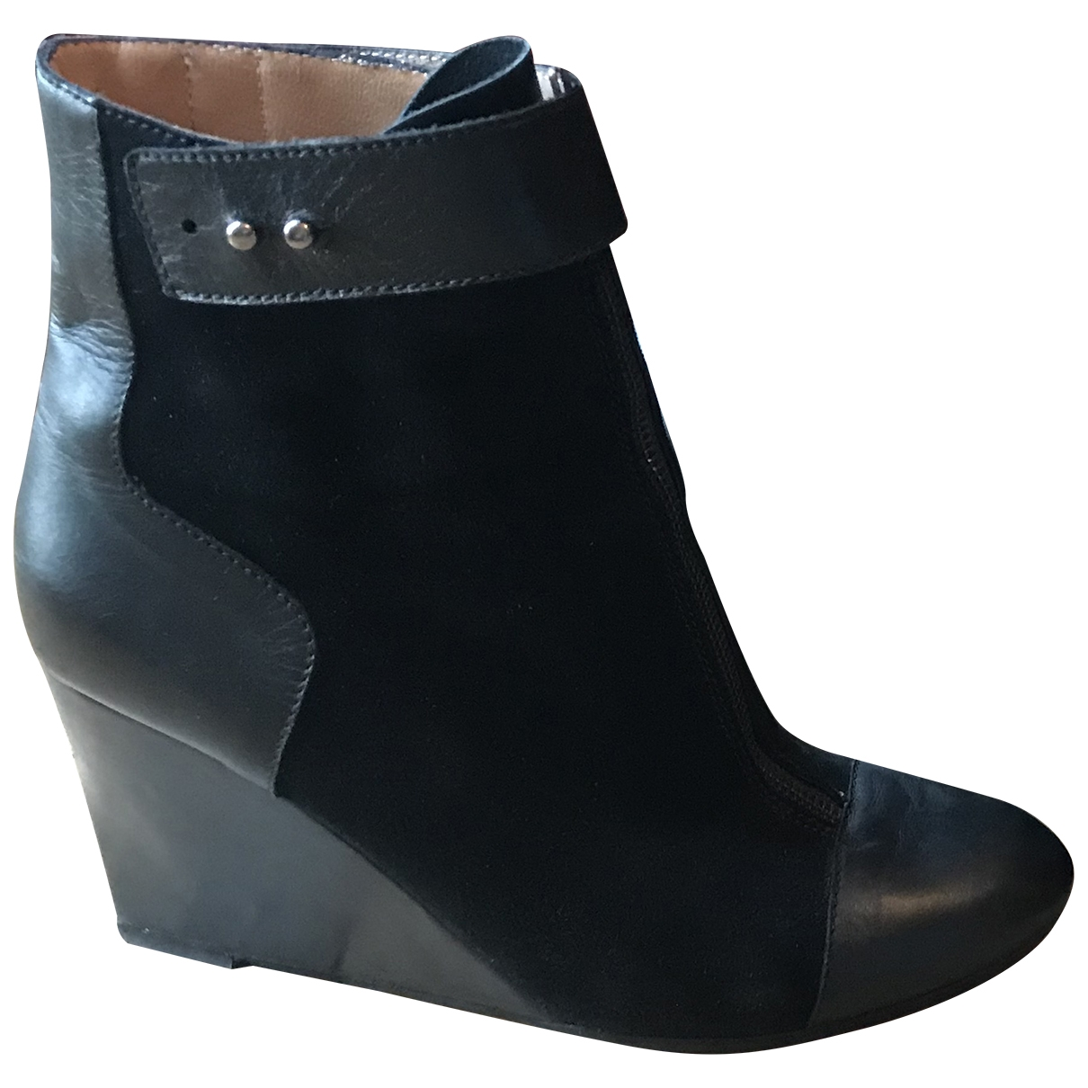 Joseph - Boots   pour femme en cuir - noir