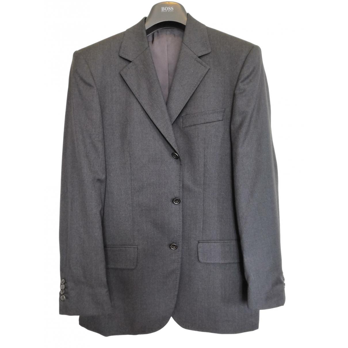 Boss - Costumes   pour homme en laine - gris