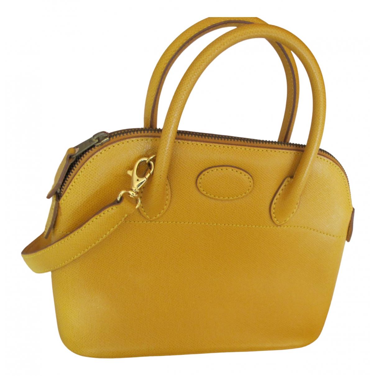 Unutzer - Sac a main   pour femme en cuir - jaune