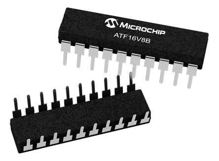 Microchip Technology ATF16V8B-15PU, SPLD Simple Programmable Logic Device ATF16V8B 150 Gates, 8 Macro Cells, 8 I/O, (5)