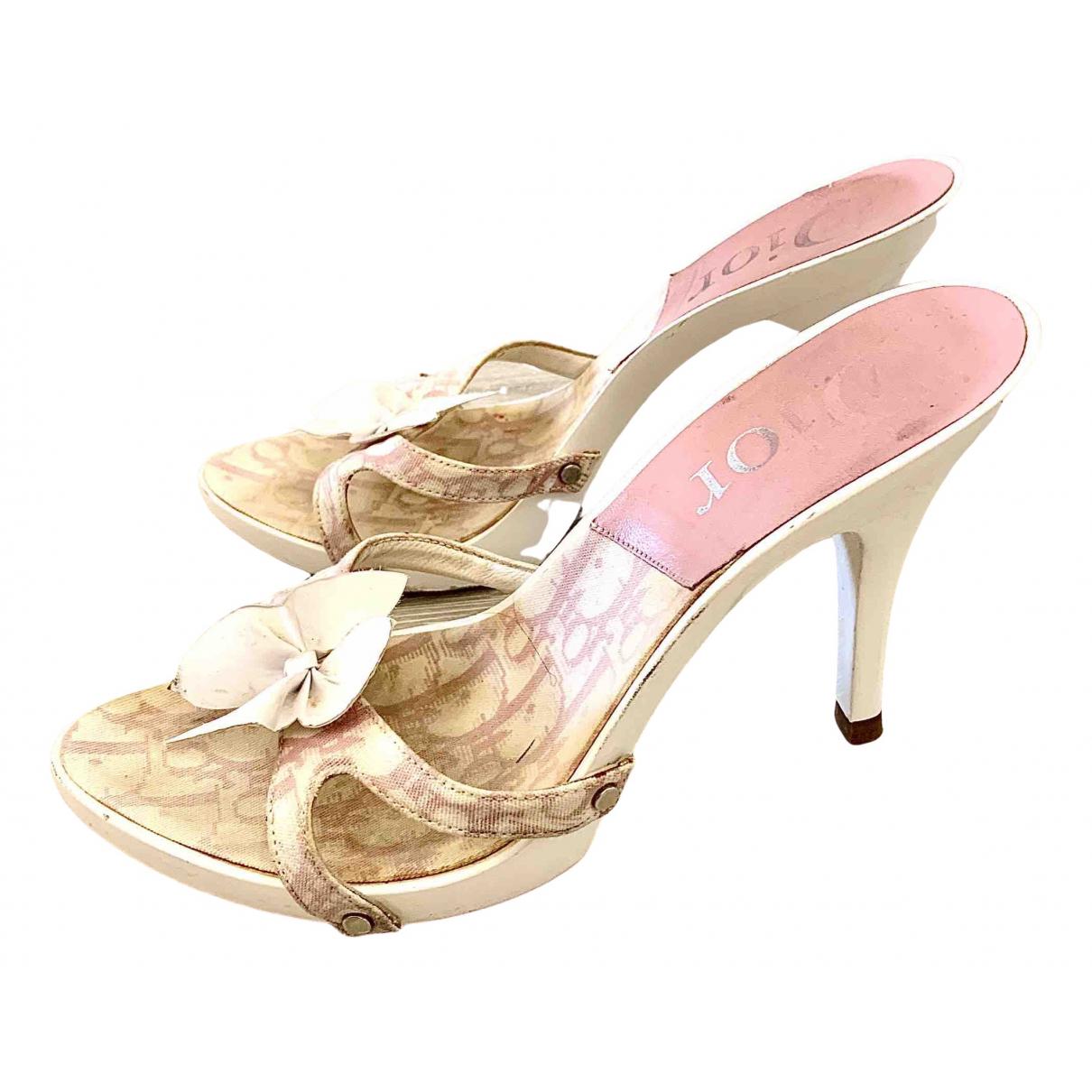Dior \N Sandalen in  Bunt Leinen