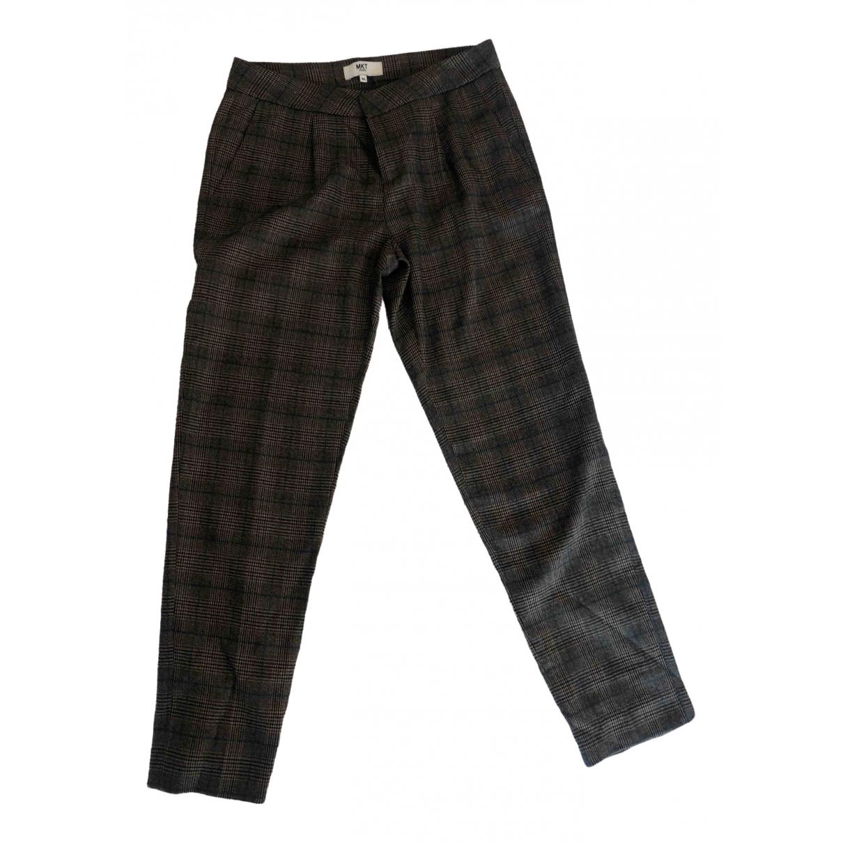 Mkt Studio \N Grey Trousers for Women 36 FR