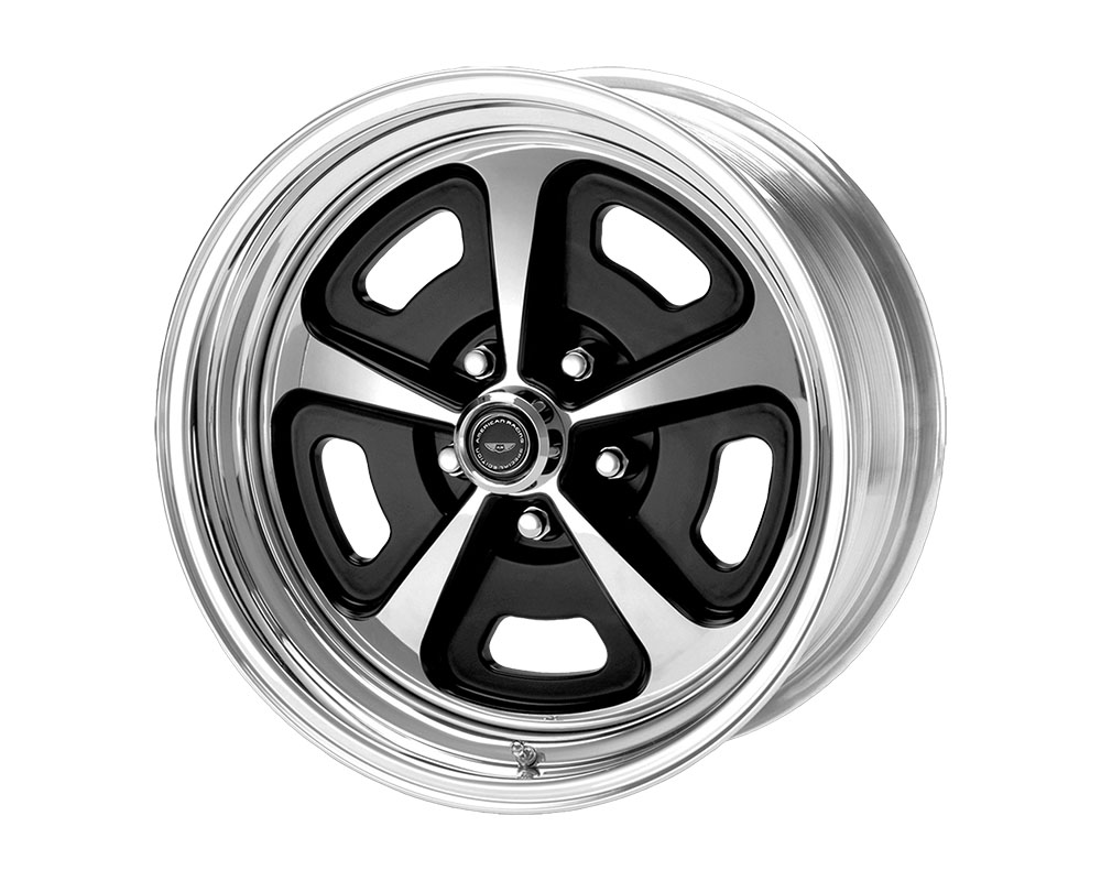 American Racing VN500 Wheel 15x9 Blank +0mm Two-Piece Gloss Black Polished Center & Barrel