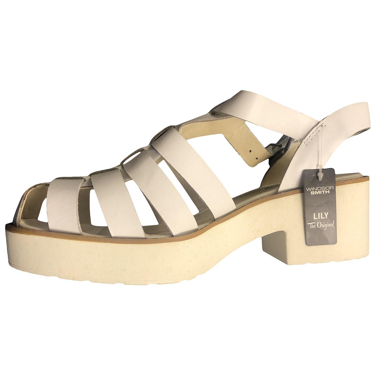 Windsor Smith - Escarpins   pour femme en cuir - blanc