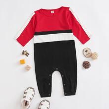 Baby Boy Color Block Jumpsuit