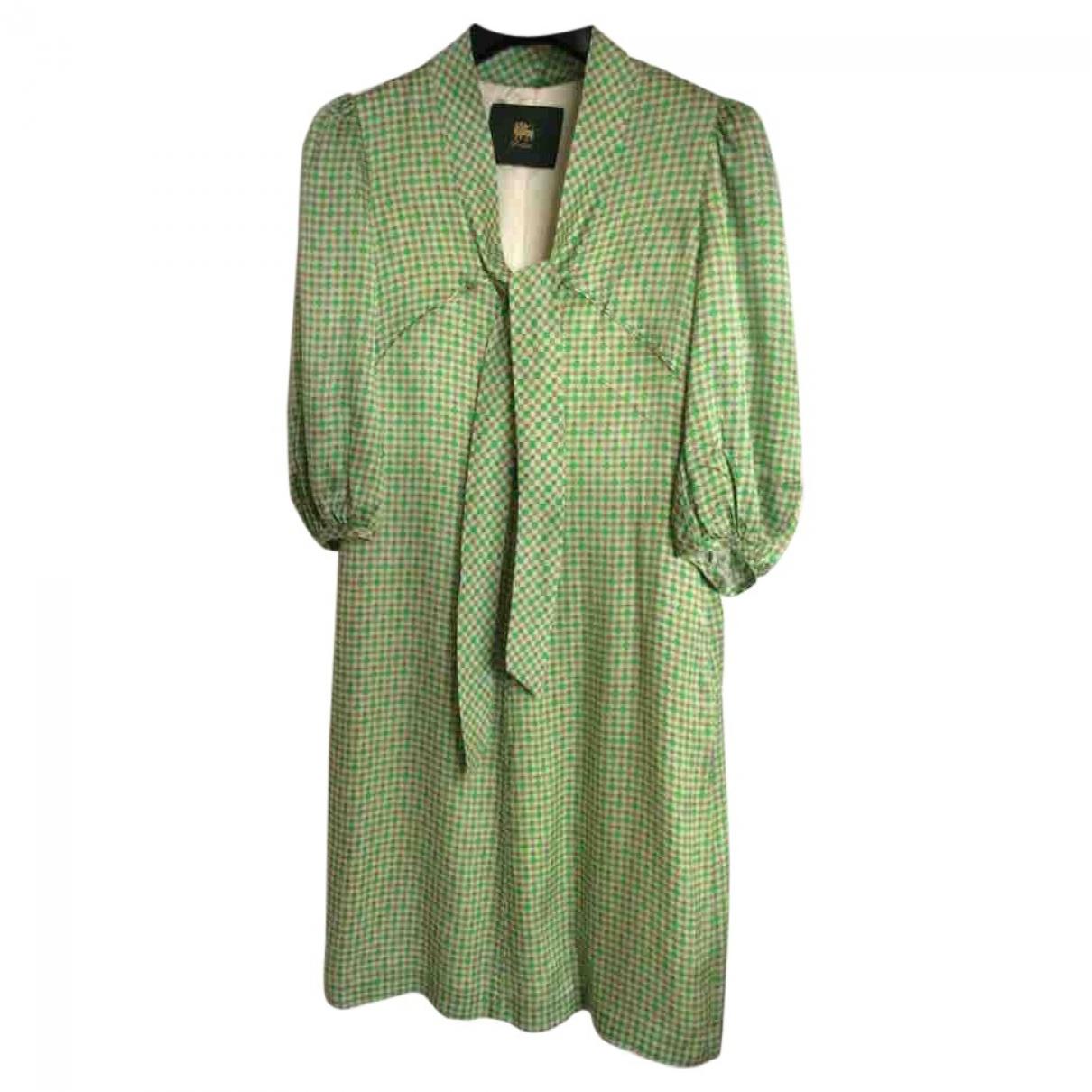 D-due - Robe   pour femme en soie - vert