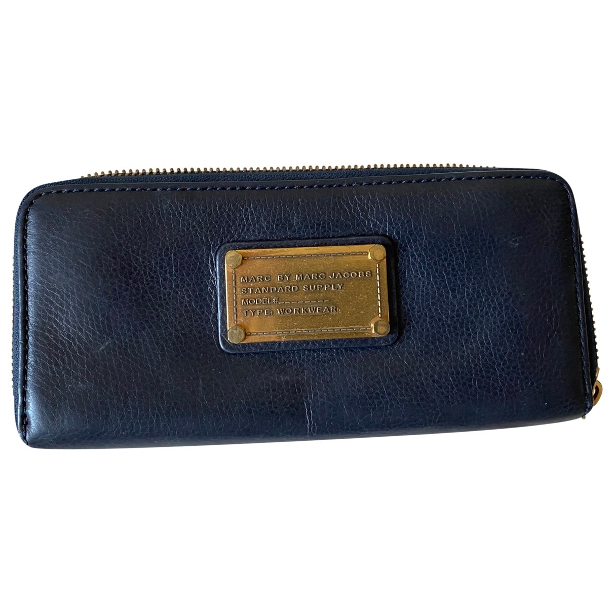 Marc By Marc Jacobs \N Navy Leather wallet for Women \N