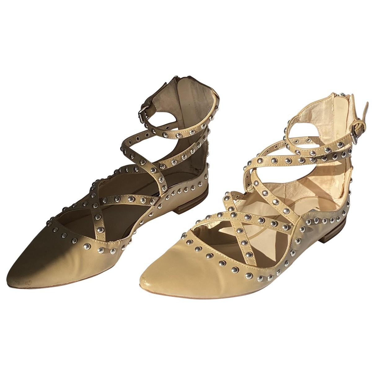 Zara \N Sandalen in  Anthrazit Kunststoff